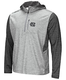 Colosseum Men's North Carolina Tar Heels Reflective Quarter-Zip Pullover