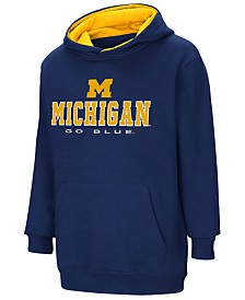 Colosseum Michigan Wolverines Pullover Hooded Sweatshirt, Big Boys (8-20)