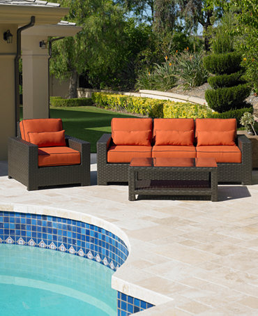 Commacys Outdoor Furniture : San Lucia Outdoor Seating Sets & Pieces - Furniture - Macys