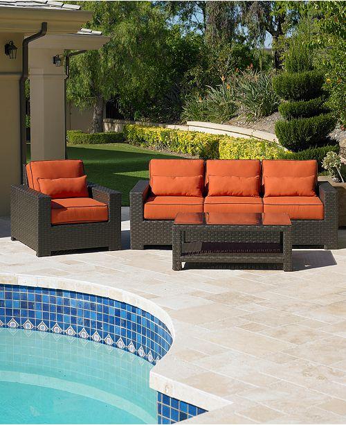 Macys Furniture San Diego: Furniture San Lucia Wicker Outdoor Sofa & Reviews