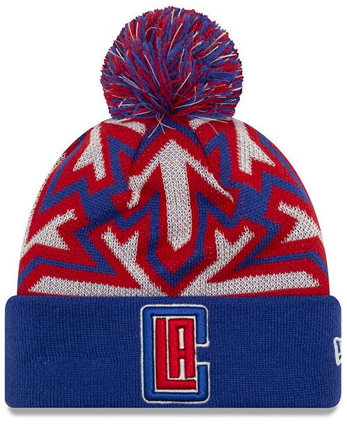 New Era Los Angeles Clippers Glowflake Cuff Knit Hat
