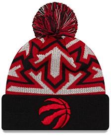 Toronto Raptors Glowflake Cuff Knit Hat
