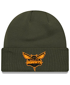 New Era Charlotte Hornets Tip Pop Cuffed Knit Hat