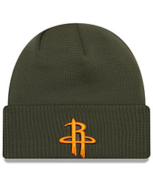 New Era Houston Rockets Tip Pop Cuffed Knit Hat