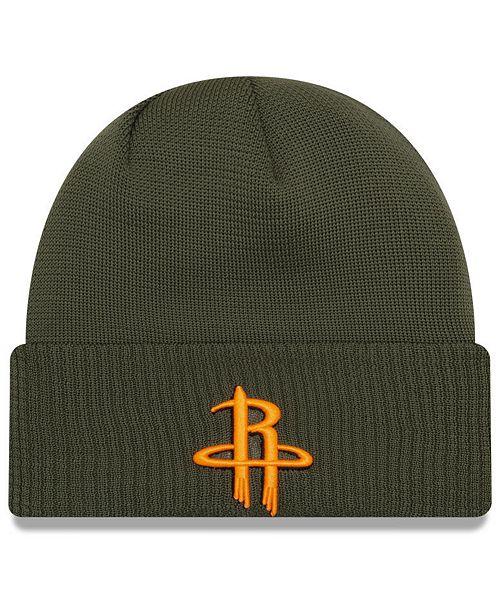 New Era Houston Rockets Tip Pop Cuffed Knit Hat