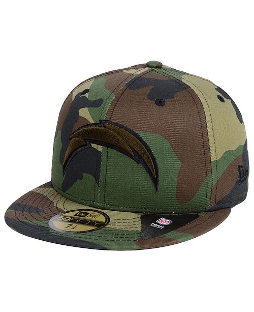 promo code 7d02d f9ee5 ... New Era Los Angeles Chargers Woodland Prism Pack 59FIFTY-FITTED Cap ...