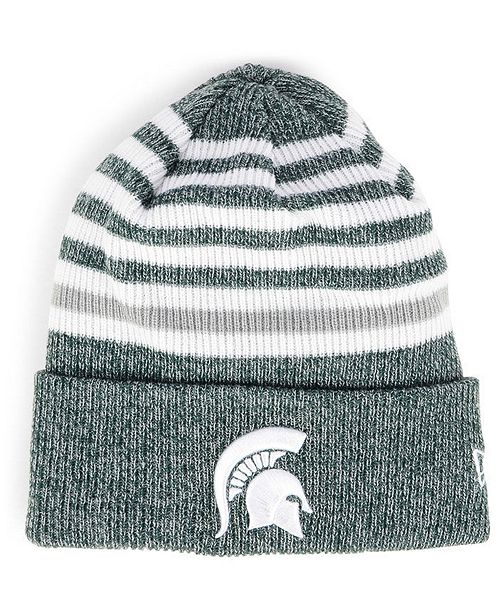 online store f1ce4 bba3e Michigan State Spartans Striped Chill Knit Hat ...