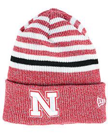 New Era Nebraska Cornhuskers Striped Chill Knit Hat