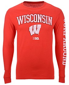 Men's Wisconsin Badgers Midsize Slogan Long Sleeve T-Shirt