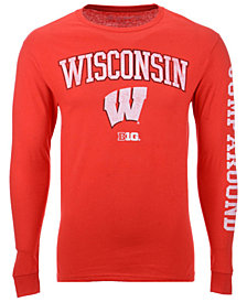Colosseum Men's Wisconsin Badgers Midsize Slogan Long Sleeve T-Shirt