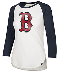 '47 Brand Women's Boston Red Sox Imprint Splitter Raglan T-Shirt