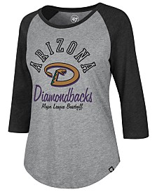 '47 Brand Women's Arizona Diamondbacks Imprint Splitter Raglan T-Shirt