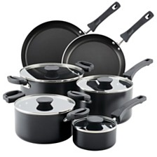 Farberware Neat Nest Space Saving Aluminum Nonstick 10-Pc. Cookware Set
