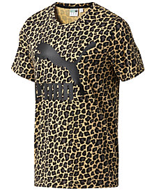 Puma Men's Wild Pack Cat-Print T-Shirt