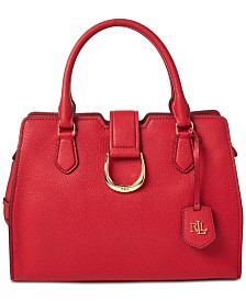 Lauren Ralph Lauren Kenton Pebble Leather Satchel, Created for Macy's