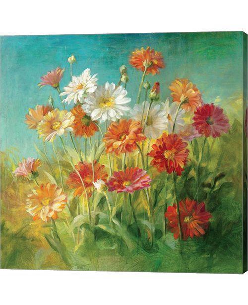 Metaverse Painted Daisies by Danhui Nai Canvas Art