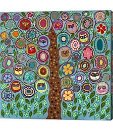 Owl Party by Kerri Ambrosino Canvas Art