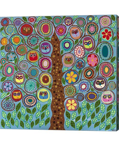 Metaverse Owl Party by Kerri Ambrosino Canvas Art