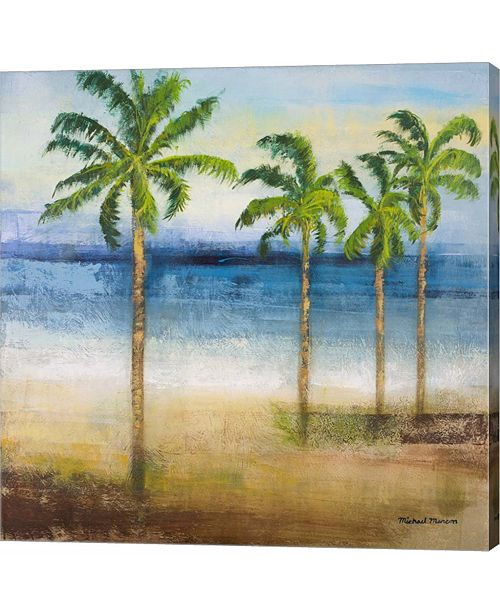 Metaverse Ocean Palms II by Michael Marcon Canvas Art