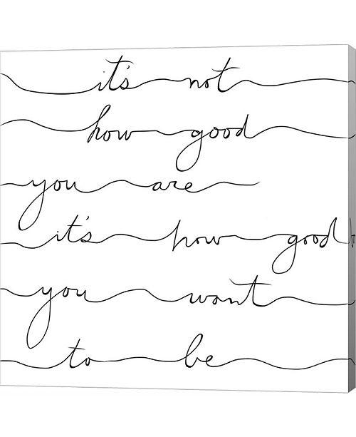 Metaverse How Good Black by Lisa Powell Braun Canvas Art