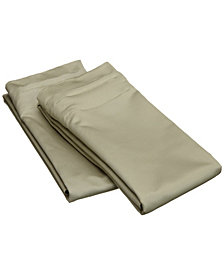 Superior 1500 Thread Count Egyptian Cotton Solid Sheet Set - King - White