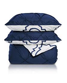 Superior Valencia Duvet Cover Set (Reversible) - Twin/Twin XL - Blue