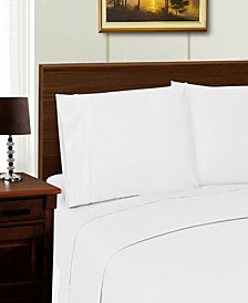 Superior 1000 Thread Count Cotton Rich Solid Sheet Set - Twin XL - White