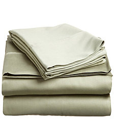 Superior 400 Thread Count Premium Combed Cotton Solid Sheet Set - Twin