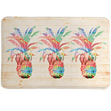 Colorful Pineapple Memory Foam Rug