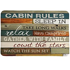 Cabin Rules Memory Foam Rug