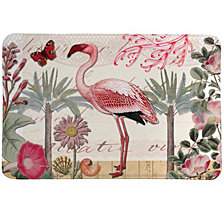Botanical Flamingo Memory Foam Rug