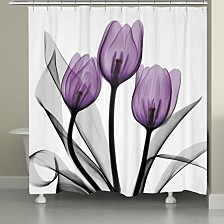 Laural Home Tulips Shower Curtain and Rug Collection