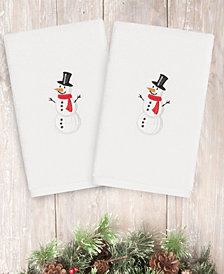 CLOSEOUT!  Linum Home Snowman 100% Turkish Cotton 2-Pc. Hand Towel Set