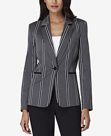 Tahari Petite ASL One-Button Notched-Collar Jacket