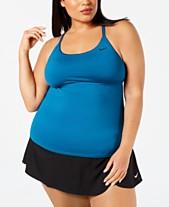 1671b0aca7e9b Nike Plus Size Tankini Top   Element Swim Shorts