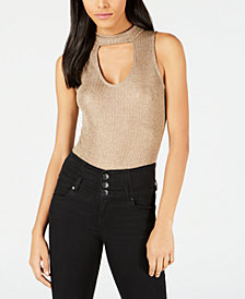 PROJECT 28 NYC Metallic Choker Bodysuit