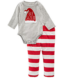 First Impressions Baby Boys & Girls Printed Bodysuit & Reversible Striped Pants, Created for Macy's