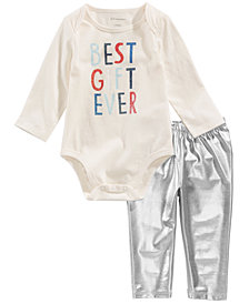 First Impressions Baby Girls Bodysuit & Shimmer Leggings, Created for Macy's
