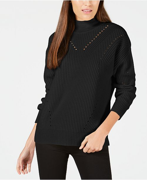 Calvin Klein Cashmere Ribbed Turtleneck Sweater