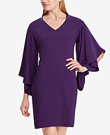 Lauren Ralph Lauren Dolman Crepe Shift Dress