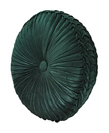 J Queen Emerald Isle Tufted Round Decorative Pillow