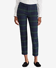 Lauren Ralph Lauren Tartan-Striped Skinny Pants