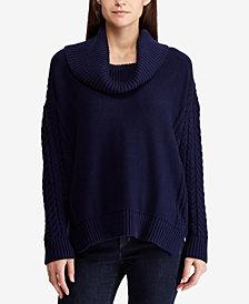 Lauren Ralph Lauren Cotton Cowl Neck Sweater