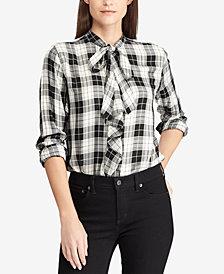 Lauren Ralph Lauren Plaid Ruffled Shirt