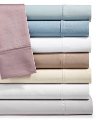Sleep Luxe 700 Thread Count, Dobby Dot 4-PC California King  Sheet Set, 100% Egyptian Cotton, Created for Macy's
