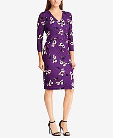 Lauren Ralph Fl Print Jersey Dress Created For Macy S