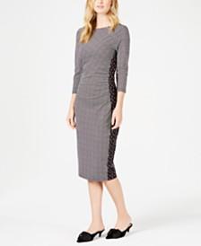 Weekend Max Mara Kriss Printed Bodyon Midi Dress