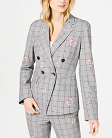 Marella Taiga Plaid Embroidered Jacket
