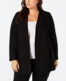 Eileen Fisher Plus Size Open-Front Blazer