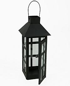 Mind Reader Indoor/Outdoor Hanging Decorative Lantern, Matte Black